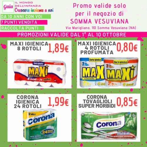 A Somma Vesuviana la convenienza raddoppia!!😃😍 Dal 1° al 10 ottobre